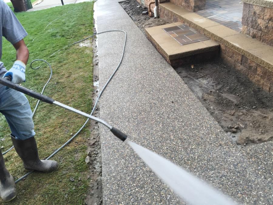 Macomb County Concrete Walkway