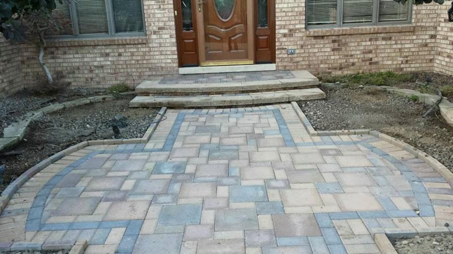 Macomb County Brick Paver Walkway